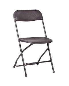 Poly Folding Chair Black