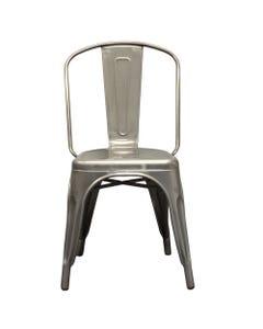 Elio Gun Metal Chair