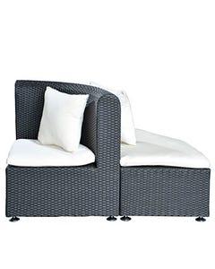 Palm Sofa Quarter Round White Cushion