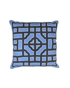 "Indigo Dynasty Pillow 18"" x 18"""
