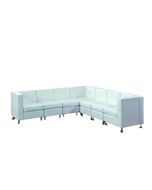 White Lowback Sectional Package