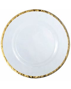 Alpine Gold Glass Passing Plate