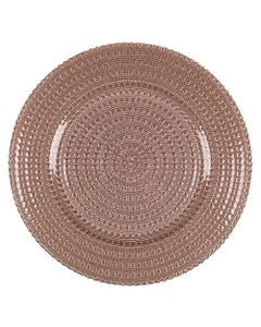 Blush Beaded Charger