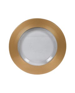 Gold Saturn Glass Passing Plate