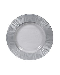 Silver Saturn Glass Passing Plate