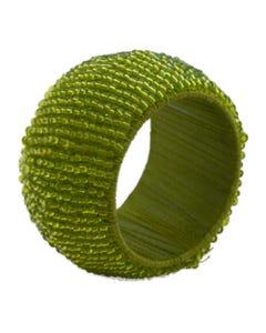 Moss Beaded Napkin Ring