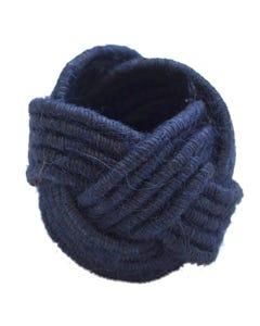 Navy Jute Napkin Ring