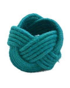 Turquoise Jute Napkin Ring