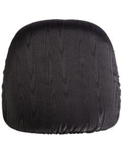 Black Bengaline Chair Pad Cover