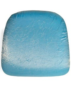 Turquoise Gold Iridescent Crush Chair Pad Cover