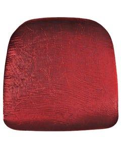 Velvet Red Iridescent Crush Chair Pad Cover