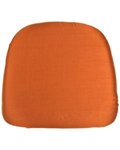 Burnt Orange Nova Solid Chair Pad Cover