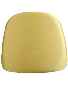 Soft Gold Nova Solid Chair Pad Cover