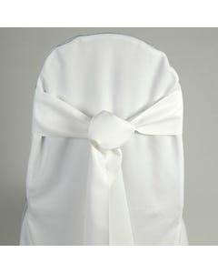 White Chair Sash