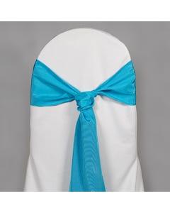 Turquoise Bengaline Chair Sash