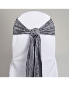 Silver Crinkle Chair Sash