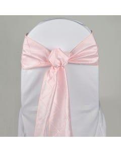 Pastel Pink Nova Pintuck Chair Sash