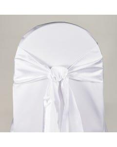 White Nova Solid Chair Sash