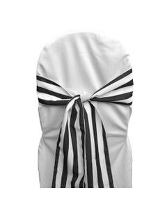 Black & White Stripe Chair Sash