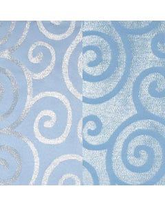 Blue Metallic Scroll