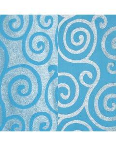 Turquoise Metallic Scroll