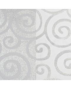 White Metallic Scroll