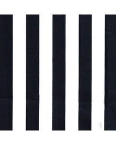 "Black & White 1"" Stripe"